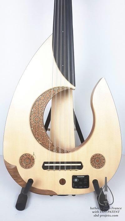 electric oud moon handmade arabic turkish عود عربي - body