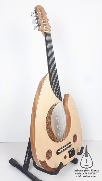 electric oud moon handmade arabic turkish عود عربي - profil