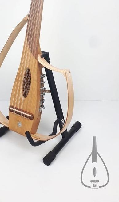 عود عربي electric silent sylent oud wood short hoop arabic turkish