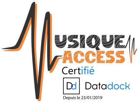 Logo musique access data dock